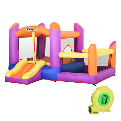 Outsunny Bounce Castle House Inflatable For Kids 3-12 W/ Inflator Multi-color • 226.99£