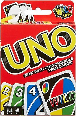 UNO CARD GAME With WILD CARDS Matte Latest Version Family Fun Indoor Party • 2.65£