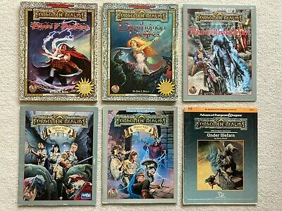 Big FORGOTTEN REALMS Lot Bundle Of 6 Advanced Dungeons And Dragons 2E/1E TSR  • 99£