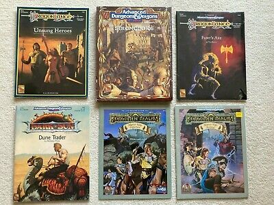Big SHRINKWRAPPED Lot Bundle Of 6 Advanced Dungeons And Dragons 2E TSR  • 200£