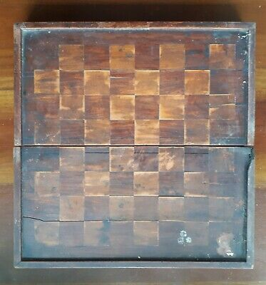 Antique Chinese Chess & Backgammon Board Inlayed Marquetry Vintage Original Item • 19.99£
