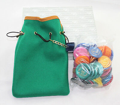 88 Chips Renzo Romagnoli Made IN Italy With Bag IN Cloth Green • 40.82£
