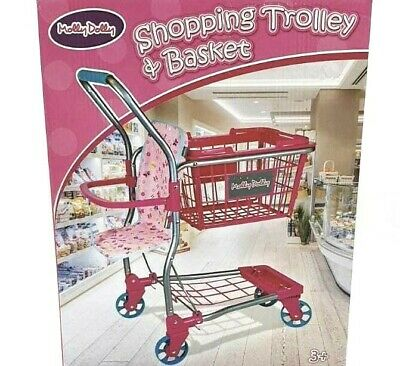 Molly Dolly / Kids 2 In 1 Supermarket Shopping Trolley & Removable Basket Toy • 21.99£