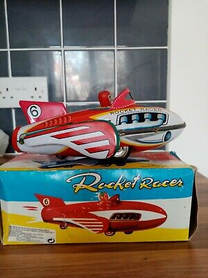 Rocket Racer Tinplate Car Collectable Toy 9inch Long • 20£