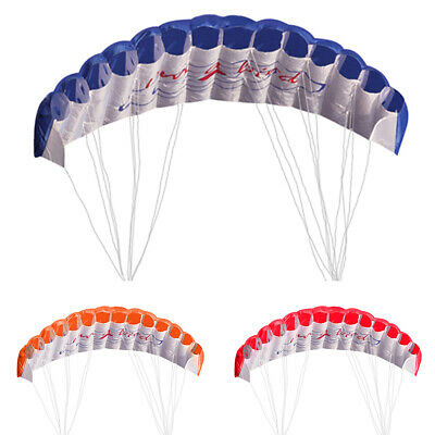 Outdoor Toy Dual Line Parafoil Parachute Stunt Sport Beach Kite Kids Adults Game • 10.29£