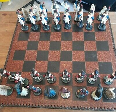 Chess Set Battle Of Waterloo With Large Board See Description • 31£
