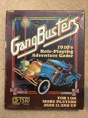 Gangbusters 1920's Role Playing Adventure Game Box Set TSR 7009 RPG • 14.10£