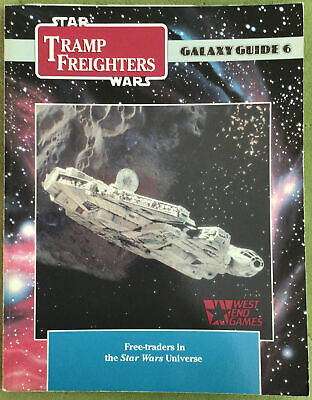 RARE! West End Games Star Wars RPG - Galaxy Guide 6 Tramp Freighters 1990 • 14£