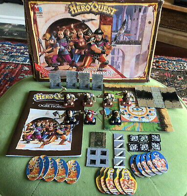 HeroQuest Against The Ogre Horde, Boxed 100% Complete [ENG,1992] • 149£
