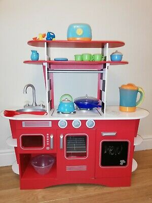 Wooden Play Kitchen With Washing Machine & Accessories  **LOCAL COLLECTION ONLY* • 45£