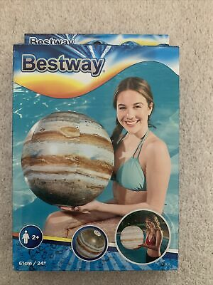 Bestway Jupiter  Planet Illuminating Beach Ball Ideal Beach Holiday Essential M1 • 3.49£