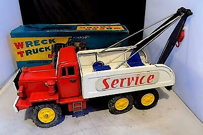 Vintage Tinplate Friction Drive Wreck Truck, Shioji (S.S.S.) Of Japan. VGiB • 25£
