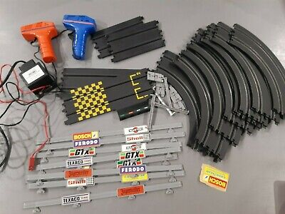 1970s Matchbox Powertrack Circuit - Barriers Straights Curves Controllers Etc  • 25£