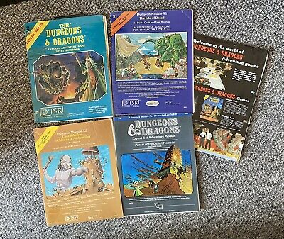 Dungeons & Dragons Fantasy RPG Expert Rules Manual 1st Edition 1980 PLUS MODULES • 25£