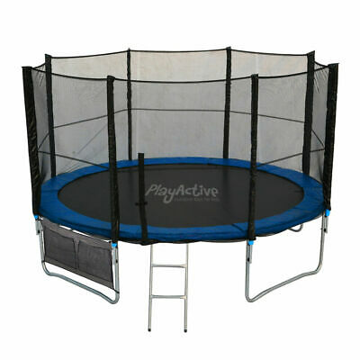 6FT 8FT 10FT 12FT 14FT Trampoline With Enclosure Rain Cover Safety Net Ladder UK • 249.99£