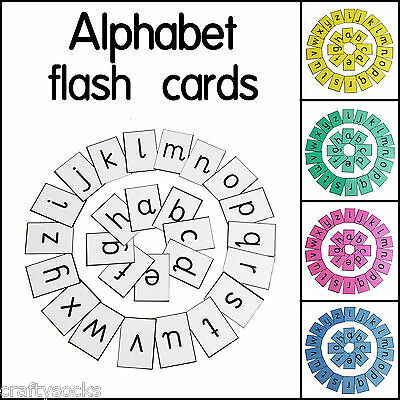 Educational Alphabet Letter Flash Cards For Home School Or Classroom • 3.98£