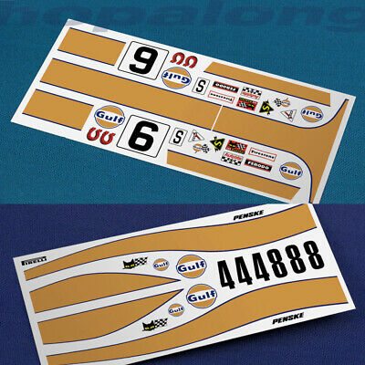Scalextric/Slot Car Waterslide Decals - 1/32 Scale. • 2.85£