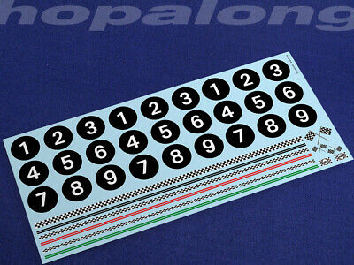 Scalextric/Slot Car 1/32 Scale Waterslide Decals. Ws004w • 3.55£