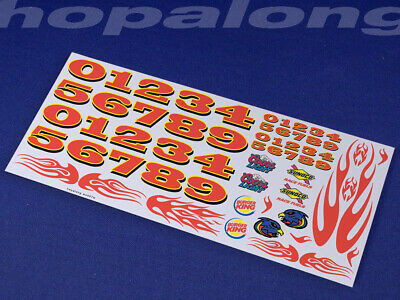 Scalextric/Slot Car 1/32 Scale Waterslide Decals. Ws007w • 3.55£