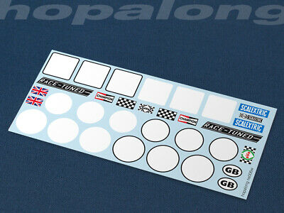 Scalextric/Slot Car 1/32 Scale Waterslide Decals (NOW INCLUDING WHITE). Ns006w • 2.85£