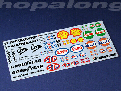 Scalextric/Slot Car 1/32 Waterslide Decals (including White Print) • 3.55£