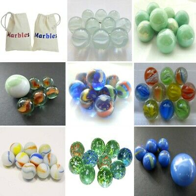 10 Glass Marbles Various Designs 16mm 🔴🔵Traditional Game Play Inc Shooter Sets • 1.35£