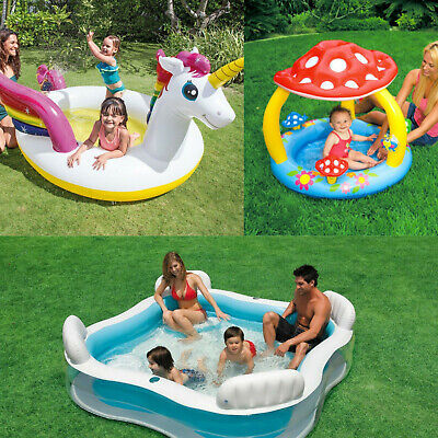 Intex Inflatable Family Outdoor Swimming Paddling Pool Play Center Garden Toy • 25.99£