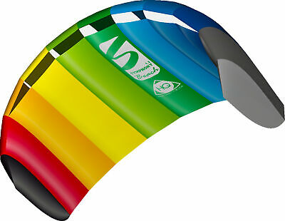 HQ Power Kite Symphony Beach III 1.3M Rainbow Ready To Fly Outdoor Package - NEW • 34.99£