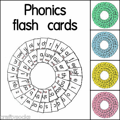 45 Laminated Phonics Sound Flash Cards For School Or Home Educational Aid Teach • 5.98£