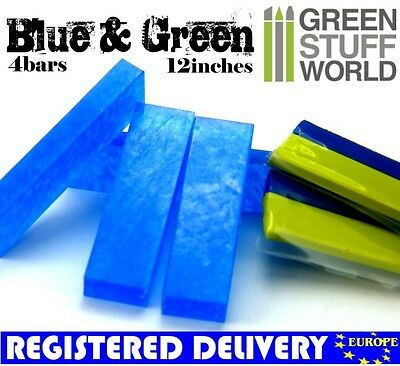 COMBO Blue Stuff Instant Plastic Clay *and* 12' Green Stuff - For BNIB Wargames • 8.50£