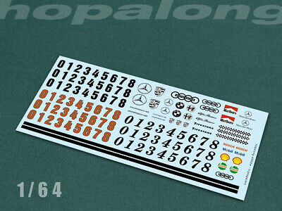 Scalextric/Slot Car/Diecast 1/64 Scale Waterslide Decals. Sf005w • 2.85£