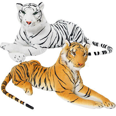 Large Giant Wild Animal Tiger Teddy Leopard Soft Plush Stuffed Toy Up To 150cm • 16.99£