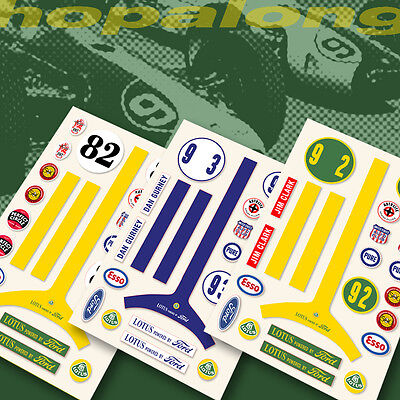 Scalextric/Slot Car 'Lotus Ford' Sticker Decals • 3.35£