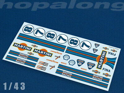 Scalextric/Slot Car 1/43 Scale Waterslide Decals. Ft038w • 2.95£