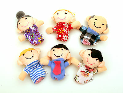 Bundle 6 Finger Puppets Happy Family Fairy Story Telling Soft Toy FREE UK POST  • 3.95£