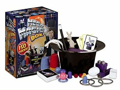 Kids Mega Magic Box 150 Tricks First Magician Hat Rabbit Trick Perfom Toy Set • 8.99£