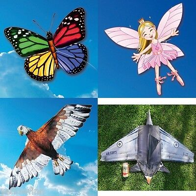 EOLO 3D Pop-Up Kite's Easy To Fly Butterfly, Eagle, Fairy Princess, Fighter Jet • 11.99£