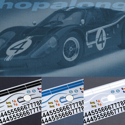 Scalextric/Slot Car 1/32 Scale 'Ford GT40' Decals. Ws030w • 3.55£