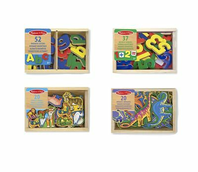 Melissa & Doug Wooden Magnetic Set Numbers Letters Animals Or Dinosaurs Fridge • 12.79£
