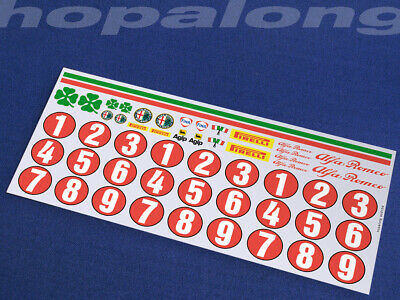 Scalextric/Slot Car 1/32 Scale Waterslide Decals. Ws012w • 3.55£