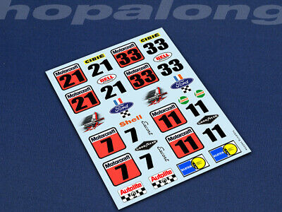 Scalextric/Slot Car 1/32 Scale Waterslide Decals. Ns004w • 2.85£