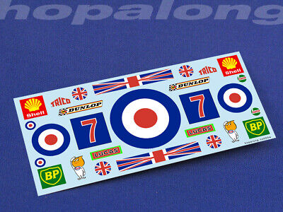 Scalextric/Slot Car 1/32 Scale Waterslide Decals. Ns020w • 2.85£