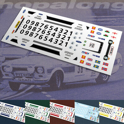 Scalextric/Slot/Diecast Car 1/64 Scale  RS2000  Waterslide Decals Sf028w • 2.85£