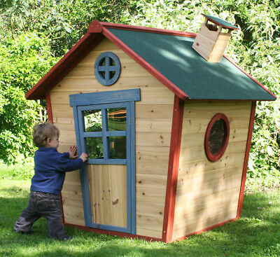 Redwood Lodge Wooden Playhouse Kids Painted Garden Wendy House Den Childrens • 329£