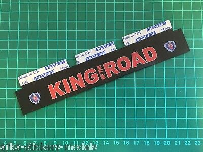 WIDE MUDFLAP (assembled) For 1/14 TAMIYA REEFER 56319 Colour Print On RUBBER • 9.90£