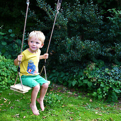 Garden Games Tree Swing Traditional Wooden Seat And Weatherproof Ropes • 26.99£
