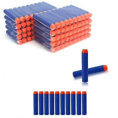 100pcs Gun Soft Refill Bullets Darts Round Head Blasters For Nerf N-strike Toy • 7.95£