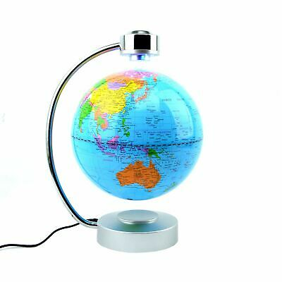 LED Magnetic Levitation Floating World Globe Desktop Table Educational Toy • 44.99£