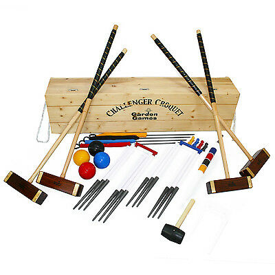 Challenger Full Size Croquet Set In A Box Competition Style Croquet Set • 474.99£