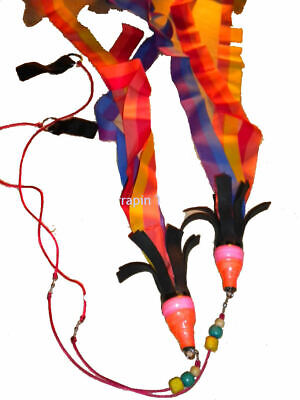 Indonesian Practice Fire Twirl Poi Pair Juggling Fire Circus Skills • 13.99£